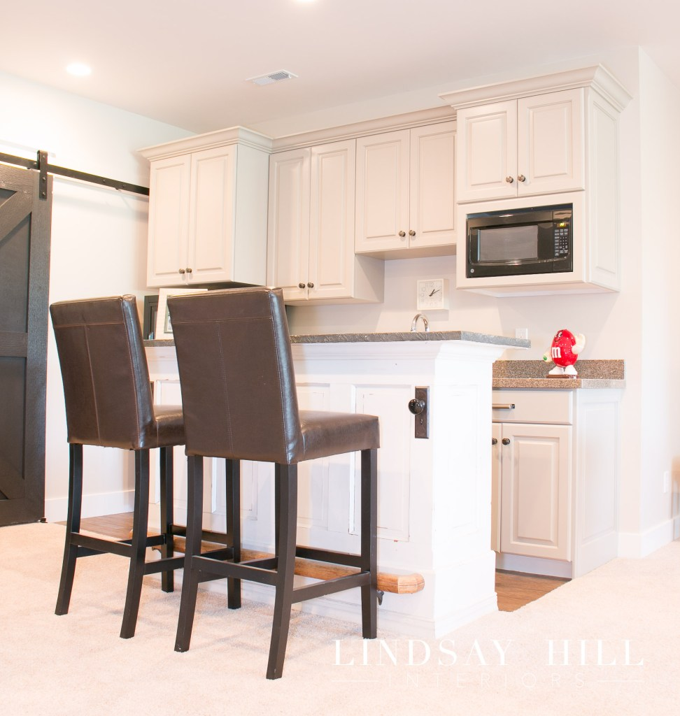 kitchenette area in large room