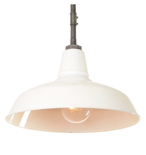 white enamel warehouse pendant