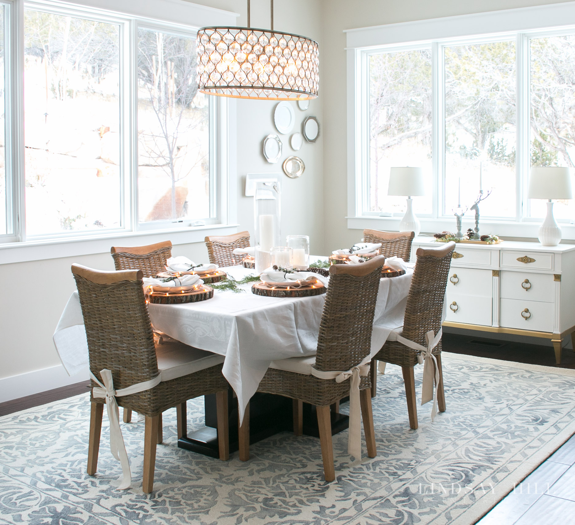 lindsay hill interiors holiday dining room