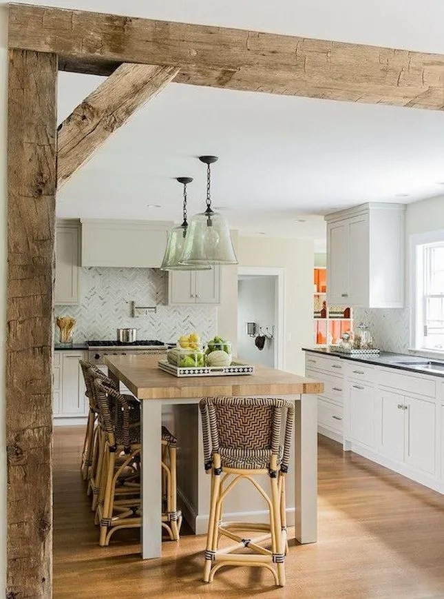 wood ceiling treatments beams