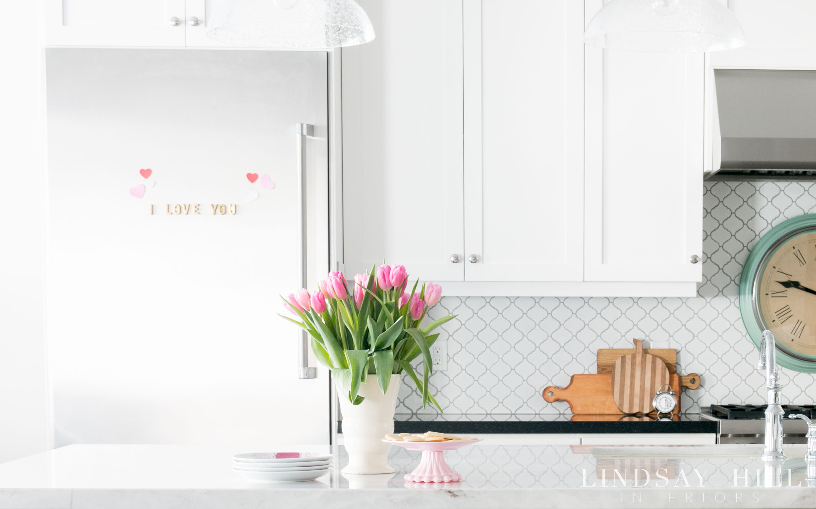 lindsay hill interiors simple valentine's day decor kitchen