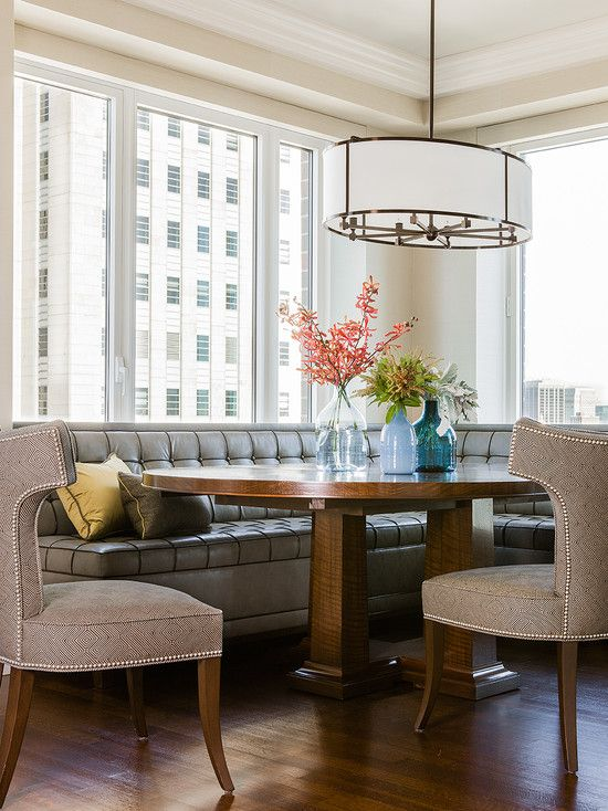 settee seating in dining room lindsay hill interiors
