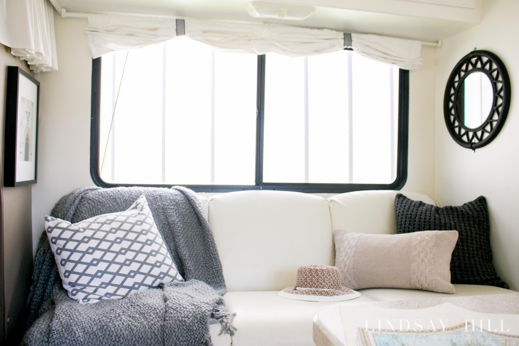RV interior mini motorhome make over sofa