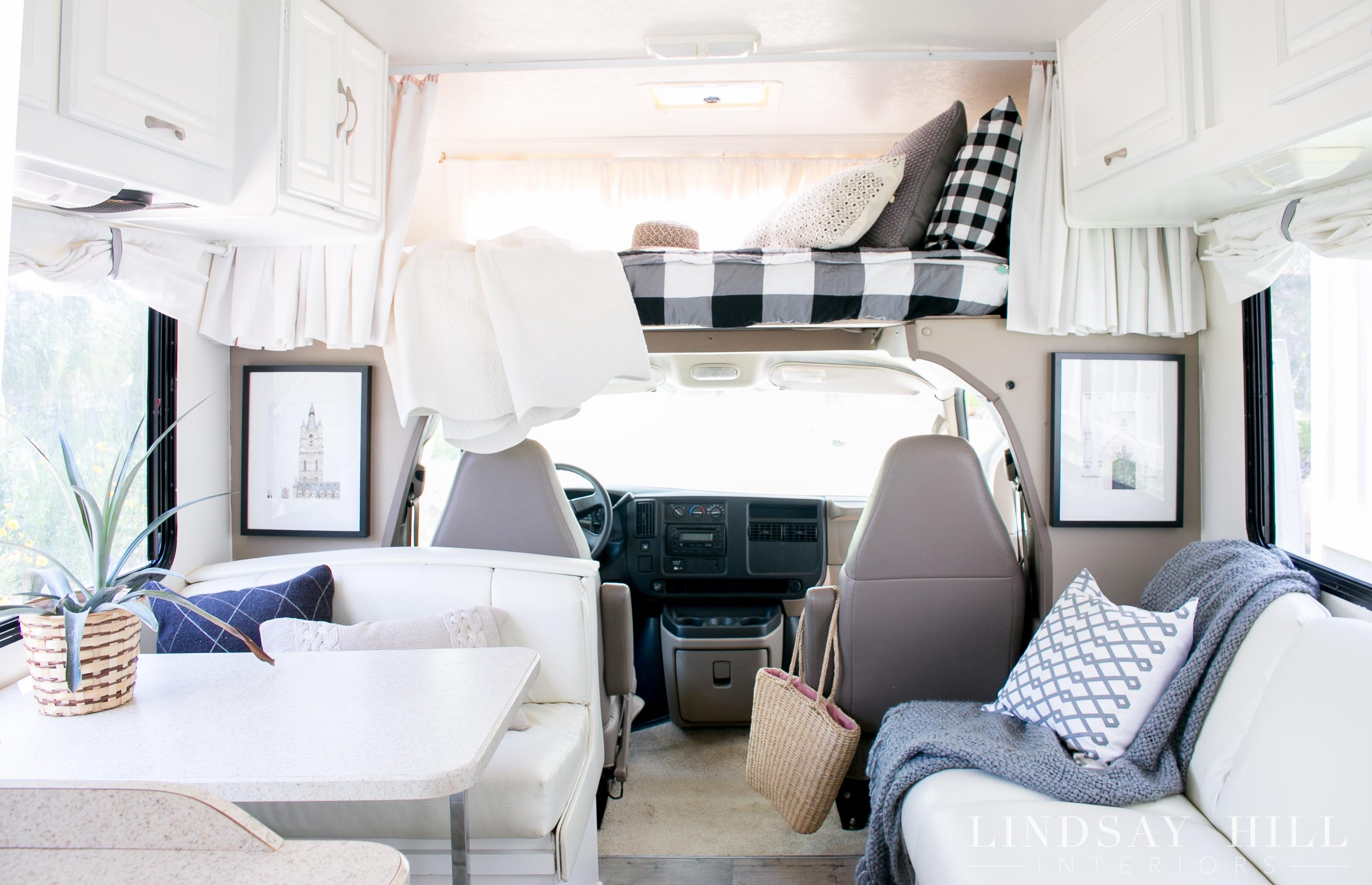 RV Interior Mini Motorhome Make Over Bedding