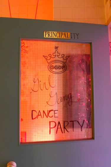 Entrance to Girl Gang Dance Party. Photo by melinda topilko