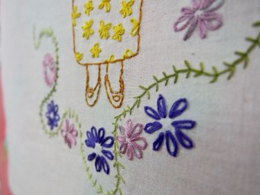 Lindsay Joy, detail, Attempts At Appearing Credible, stitched selfies, embroidery on cotton, 2014