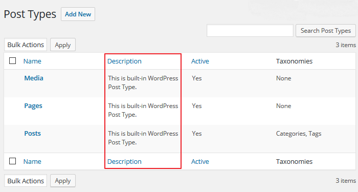 Toolset - Built-in WordPress Post Types