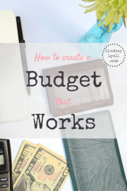 How to create a budget that really works. Budgets are vital for paying off debt and reaching financial goals. Getting started is the hardest part! Click through to read all of my suggestions for making a budget, categorizing expenses, and saving money.