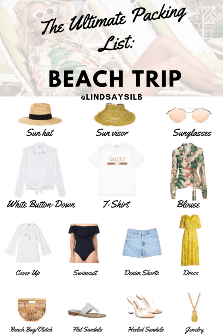 beach vacation outfits and packing list
