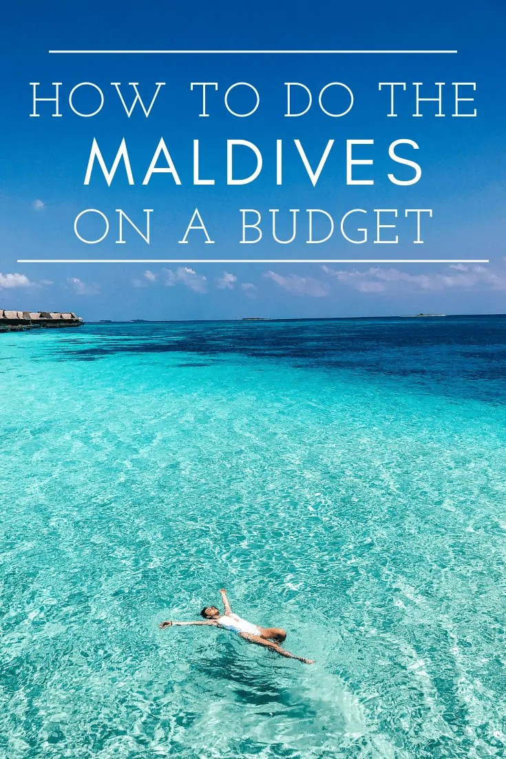 how to do the maldives on a budget
