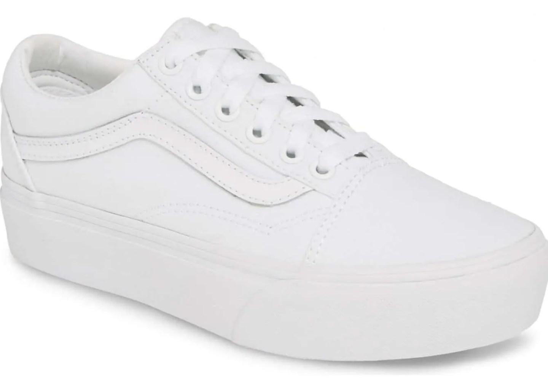 white sneakers for women vans