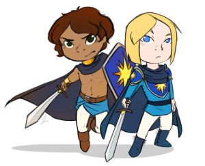 Damen and Laurent by arianwen44.tumblr.com