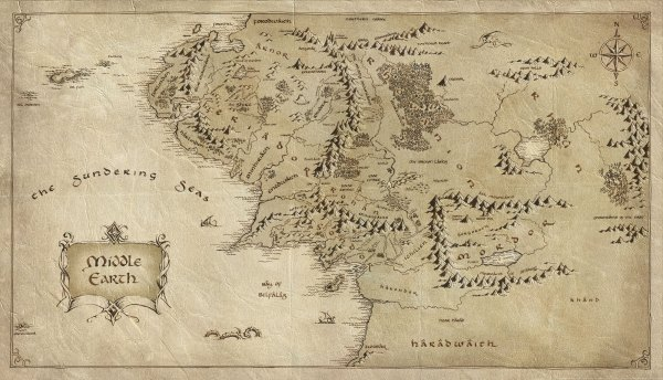 Map of Middle Earth (Lord of the Rings)