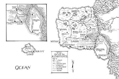 Map of the Seven Kingdoms (Graceling)