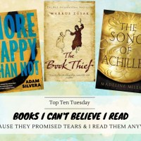 Books I Can't Believe I Read Because They Promised Tears & I Read Them Anyway {Top Ten Tuesday}