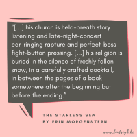The Starless Sea by Erin Morgenstern {Quote It Wednesday}