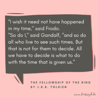 The Fellowship of the Ring by J.R.R. Tolkien {Quote It Wednesday}
