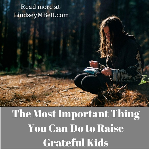 There is ONE HUGE thing we can do to battle entitlement in our homes. Read more at lindseymbell.com.
