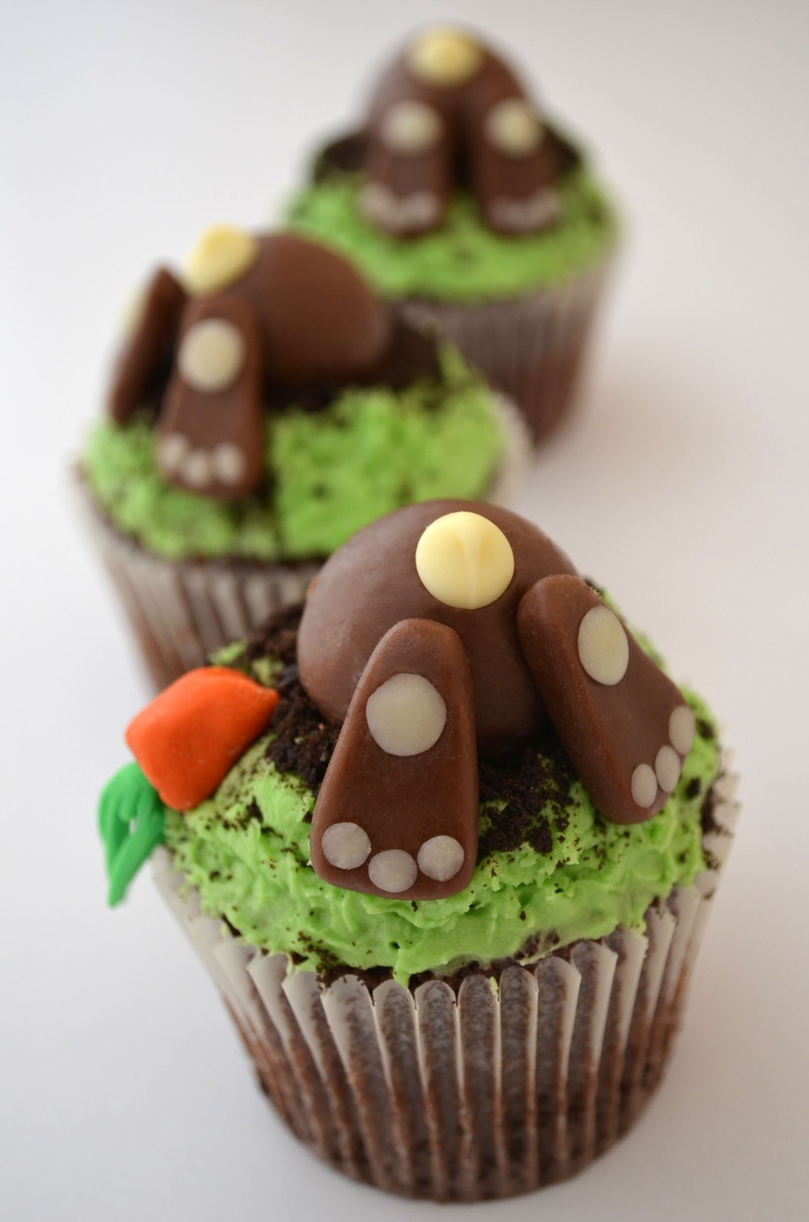Easter Bunny Bum Cupcake Recipe