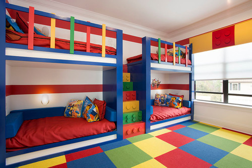 Lego inspired bunk beds