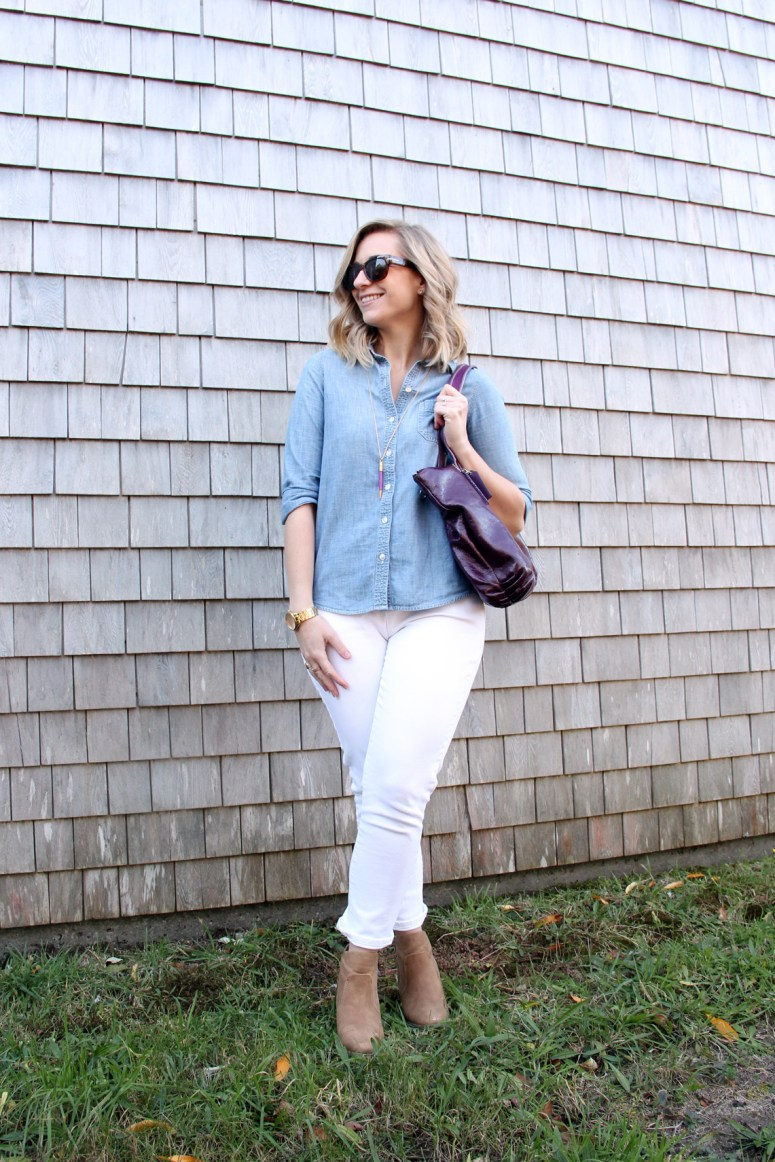Lindsay's Look - White Jeans