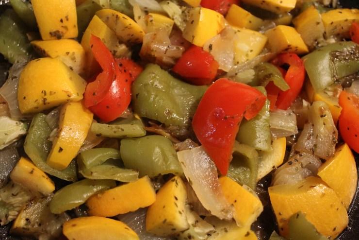 Légumes du soleil à la poêle
