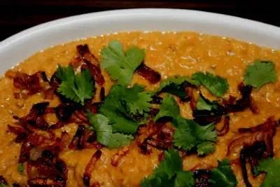 Curry de lentilles à l'indienne