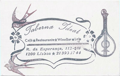 Restaurant Taberna Ideal, Lisboa