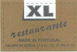 Restaurante XL, Lisboa