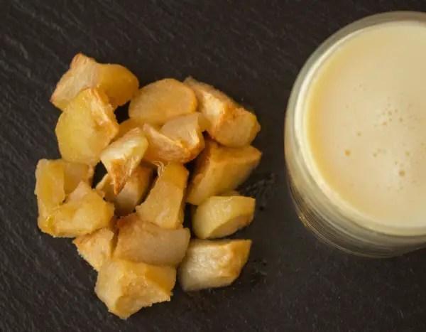 Pommes caramélisées et crème vanille