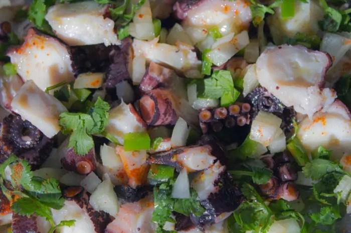 salade de poulpe, salada de polvo