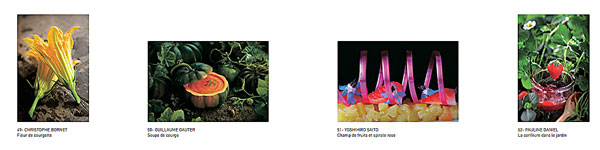Quatre photographies de l'exposition arts&food