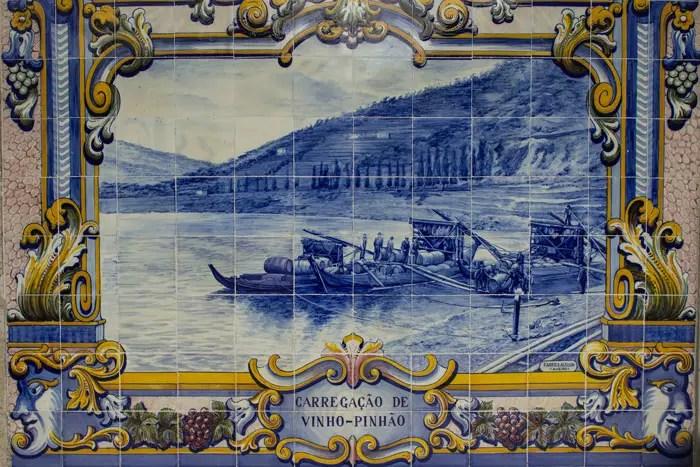 Azulejo da estação do PInhão