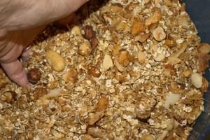 Malaxer la granula cuite à la main