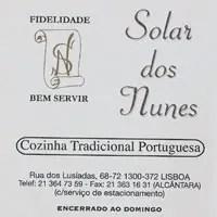 Restaurant Solar dos Nunes