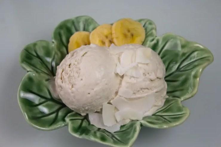 Glace coco banane sans lait ni oeufs