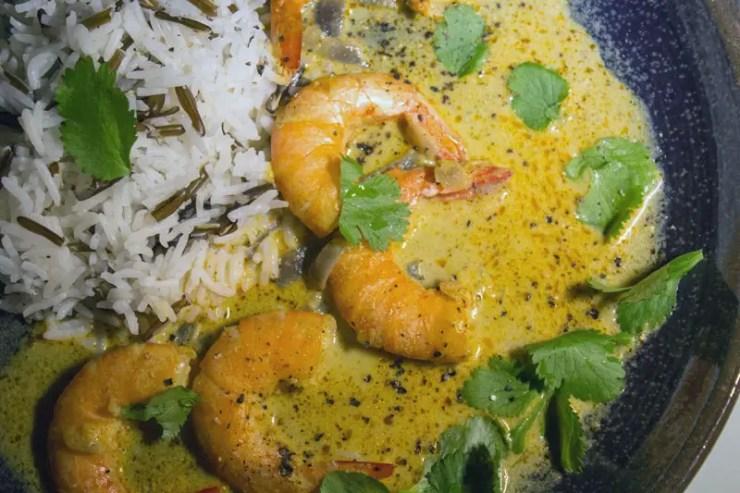 Gambas au Curry Thai