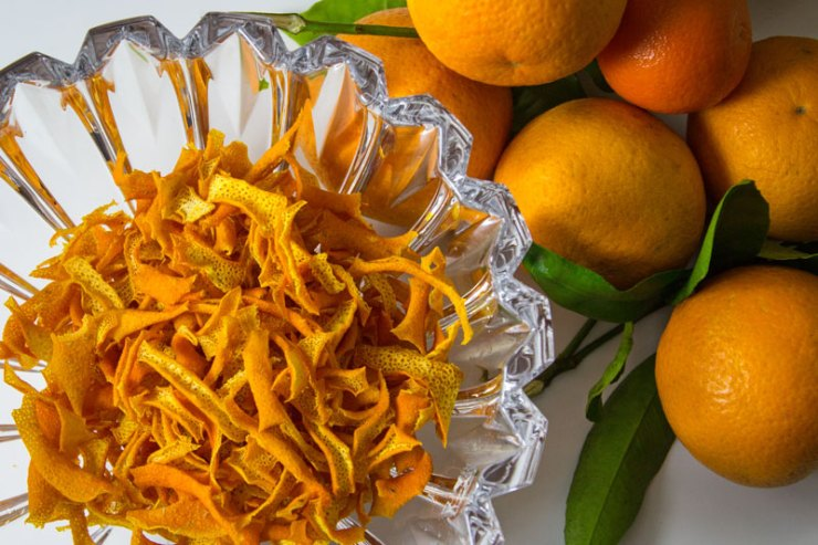 casca de laranja desidratada