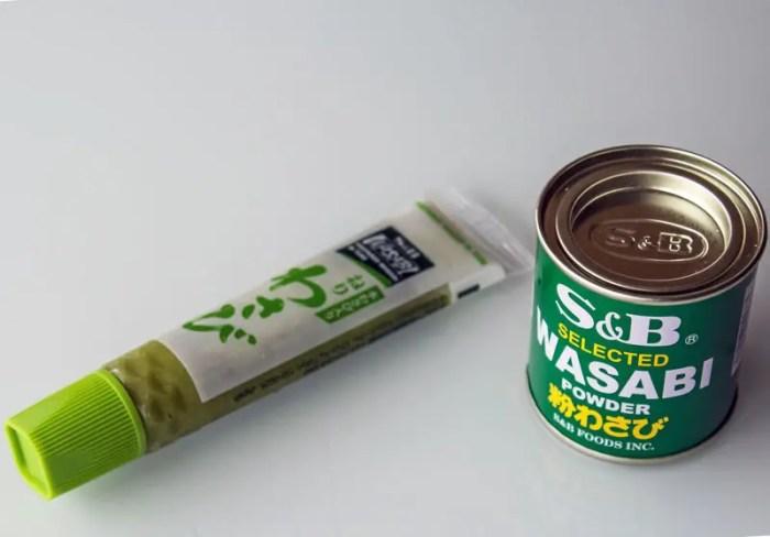 Wasabi en pâte et en poudre