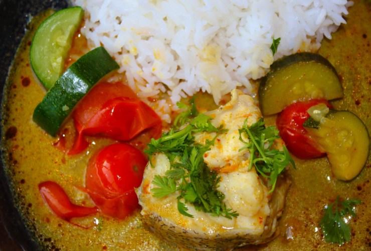 Curry jaune de poisson Thai