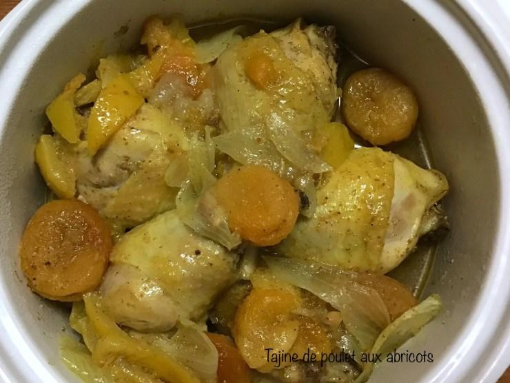 Tajine de poulet aux abricots et citron confit