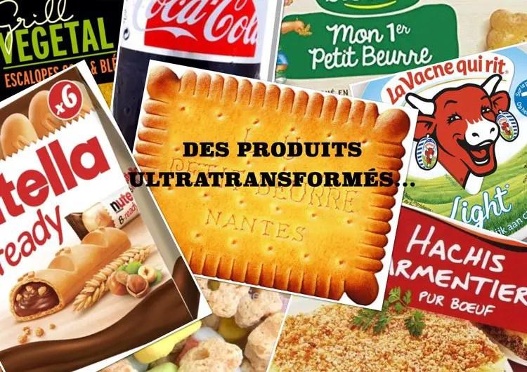 Méli-mélo d'aliments ultra-transformés