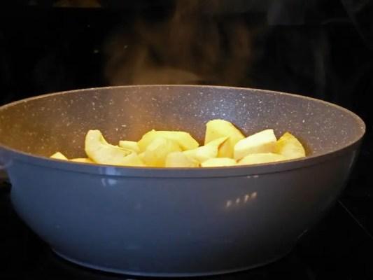 Pommes fruits au wok