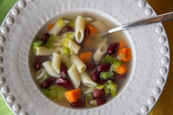 Assiette de minestrone