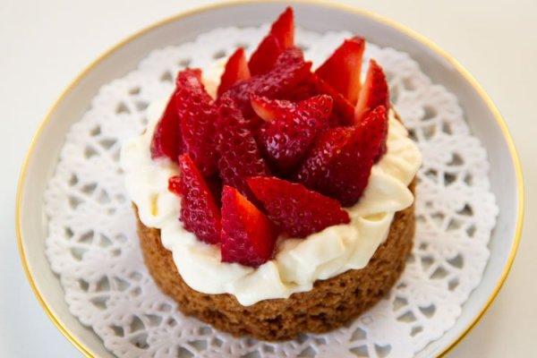 Tartelette aux fraises sur sablé breton