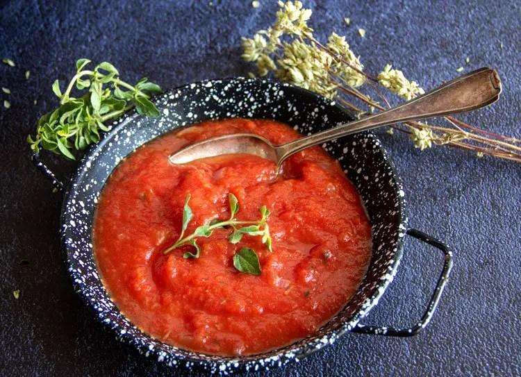 Coulis de tomate à l'origan