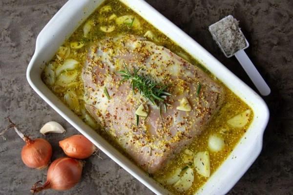 Palette de porc dans sa marinade