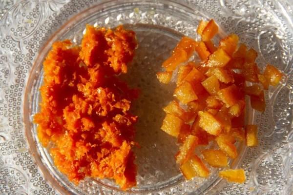 Zestes et écorces d'oranges confites