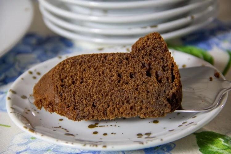 Part de bundt cake Café et Mascarpone