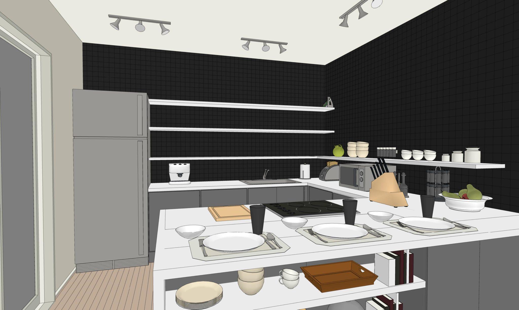 Una Cucina Senza Pensili - lineatre - kucita - gli esperti ...
